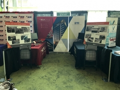 The ETI and SK&A booth.