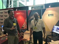 SK&A R&R Principal, Brent Stephens with ETI Vice President, Charles Mitchell.